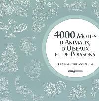 4.000 motifs d'animaux, d'oiseaux et de poissons