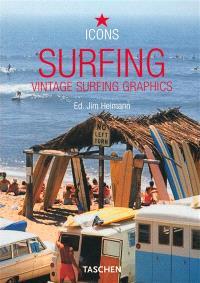 Surfing : vintage surfing graphics