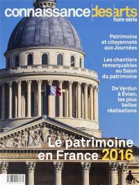 Le patrimoine en France 2016