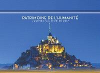 Patrimoine de l'humanité : l'agenda-calendrier 2017