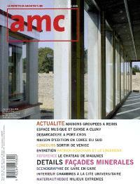 AMC, le moniteur architecture. n° 177, Façades minérales