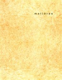 Matières. n° 11