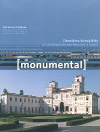 Monumental. n° 2 (2011), Les établissements français à Rome