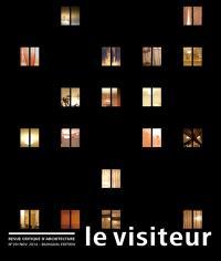 Visiteur (Le). n° 20, Le silence habité des maisons