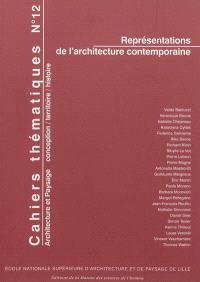 Cahiers thématiques. n° 12, Représentations de l'architecture contemporaine