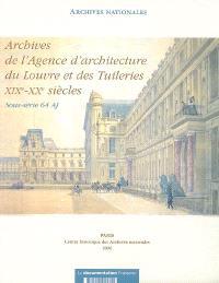 Archives de l'Agence d'architecture du Louvre et des Tuileries, XIXe-XXe siècles : sous-série 64 AJ