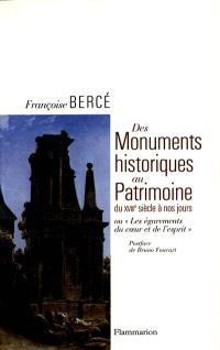 Histoire du monument français : du XVIIIe siècle à nos jours