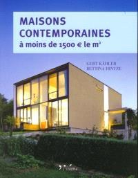 Maisons contemporaines à moins de 1.500 euros le m2