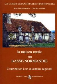 La maison rurale en Basse-Normandie