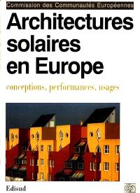 Architectures solaires en Europe : conceptions, performances, usages