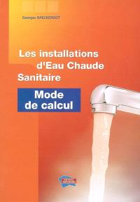 Les installations d'eau chaude sanitaire : mode de calcul
