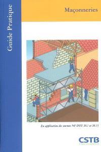 Maçonneries : en application des normes NF DTU 20.1 et 20.13