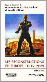 Les reconstructions en Europe, 1945-1949