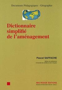 Dictionnaire simplifié de l'aménagement