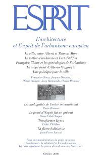 Esprit. n° 318, L'architecture et l'esprit de l'urbanisme européen