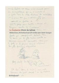 Le Corbusier : choix de lettres