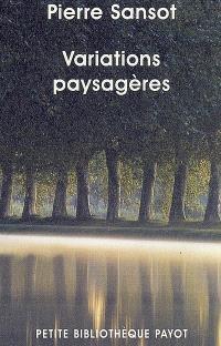 Variations paysagères : invitation au paysage