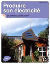 Produire son électricité avec les énergies solaire et éolienne : principes, exemples de réalisation