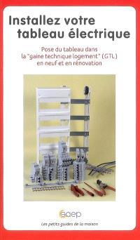 Installer votre tableau électrique : pose du tableau dans la gaine technique logement (GTL) en neuf et en rénovation