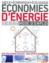 Economies d'énergie : mode d'emploi facile, économique, écologique : des solutions faciles, des effets durables