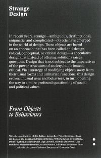 Strange design : from objects to behaviors