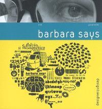 Barbara Says : graphistes