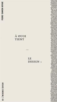 A quoi tient le design