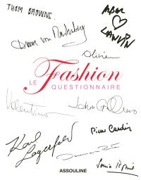 Fashion, le questionnaire