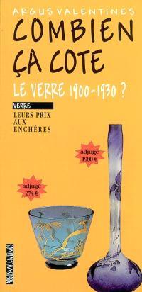 Combien ça cote, le verre 1900-1930 ? : leurs prix aux enchères
