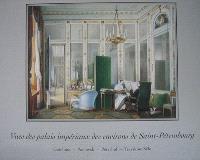 Vues des palais impériaux des environs de Saint-Pétersbourg : Gatchina, Pavlovsk, Peterhof et Tsarskoïe Selo