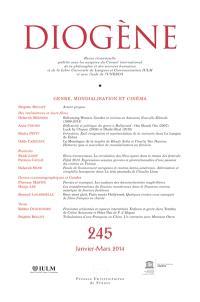 Diogène. n° 245, Genre, mondialisation et cinéma