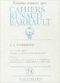 Cahiers Renaud-Barrault. n° 73, S.I. Witkiewicz