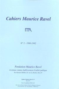 Cahiers Maurice Ravel. n° 5