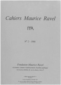 Cahiers Maurice Ravel. n° 2