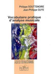 Vocabulaire pratique d'analyse musicale