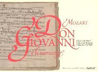 Le manuscrit de Don Giovanni de Mozart