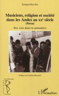 Musiciens, religion et société dans les Andes au XXe siècle (Pérou) : des voix dans la pénombre