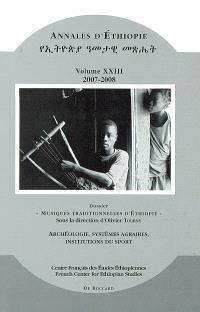 Annales d'Ethiopie. n° 23, Musiques traditionnelles d'Ethiopie