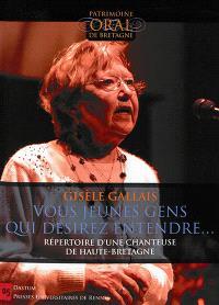 Vous jeunes gens qui désirez entendre... : répertoire d'une chanteuse de Haute-Bretagne