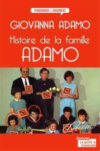 Histoire de la famille Adamo