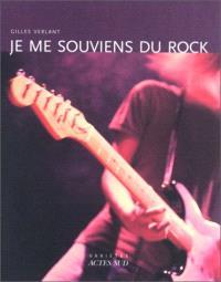 Je me souviens du rock