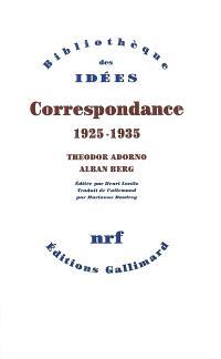 Correspondance 1925-1935