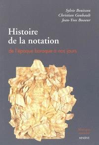 Histoire de la notation : de l'époque baroque à nos jours