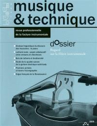 Musique & technique. n° 4, Regard sur la filière instrumentale