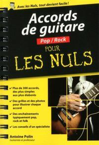 Accords de guitare pop-rock pour les nuls