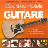 Cours complets de guitare : guitare classique, guitare électrique, basse