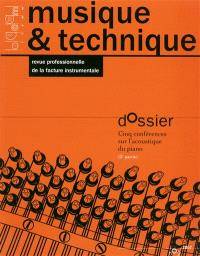Musique & technique. n° 2, Cinq conférences sur l'acoustique du piano : 2e partie