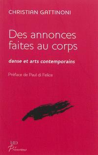 Des annonces faites au corps : danse et arts contemporains
