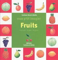 Fruits : français-arabe-anglais