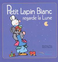 Petit Lapin blanc regarde la lune
